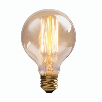 Ретро лампа Arte lamp ED-G80-CL60Лампы Эдисона<br><br><br>Тип цоколя: E27<br>MAX мощность ламп, Вт: 60<br>Диаметр, мм мм: 80<br>Высота, мм: 120
