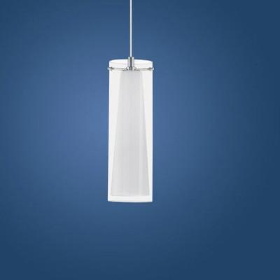 Eglo PINTO 89832 Светильник подвеснойОдиночные<br>Австрийское качество модели светильника Eglo 89832 не оставит равнодушным каждого купившего! Прозрачное и матовое закаленное стекло(пр-во Чехия), Никелированный глянцевый корпус, Класс изоляции 3 (двойная изоляция), IP 20, освещенность 806 lm ,Н=1100D=110,1X60W,E27.<br><br>S освещ. до, м2: 4<br>Тип лампы: накаливания / энергосбережения / LED-светодиодная<br>Тип цоколя: E27<br>Количество ламп: 1<br>MAX мощность ламп, Вт: 2<br>Диаметр, мм мм: 110<br>Размеры основания, мм: 0<br>Высота, мм: 1100<br>Оттенок (цвет): прозрачный, белый<br>Цвет арматуры: серебристый<br>Общая мощность, Вт: 1X60W