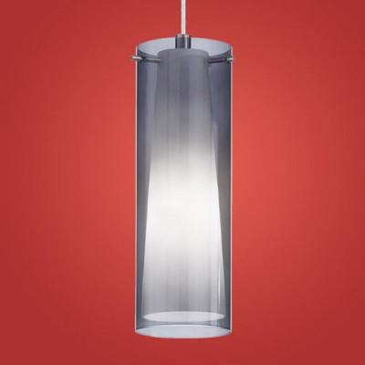 Eglo PINTO NERO 90304 Светильник подвеснойОдиночные<br>Австрийское качество модели светильника Eglo 90304 не оставит равнодушным каждого купившего! Прозрачное и матовое закаленное стекло(пр-во Чехия), Никелированный глянцевый корпус, Класс изоляции 2 (двойная изоляция), IP 20, освещенность 806 lm ,Н=1100D=110,1X60W,E27.<br><br>S освещ. до, м2: 4<br>Тип лампы: накаливания / энергосбережения / LED-светодиодная<br>Тип цоколя: E27<br>Количество ламп: 1<br>MAX мощность ламп, Вт: 2<br>Диаметр, мм мм: 110<br>Размеры основания, мм: 0<br>Высота, мм: 1100<br>Оттенок (цвет): черный-прозрачный, белый<br>Цвет арматуры: серый<br>Общая мощность, Вт: 1X60W