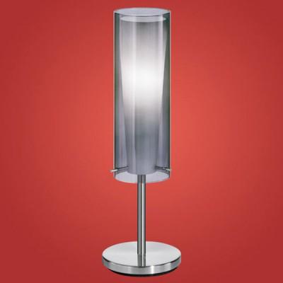 Eglo PINTO NERO 90308 Настольная лампаХай тек<br>Австрийское качество модели светильника Eglo 90308 не оставит равнодушным каждого купившего! Прозрачное и матовое закаленное стекло(пр-во Чехия), Никелированный глянцевый корпус, с выключателем, Класс изоляции 3 (двойная изоляция), IP 20, освещенность 806 lm ,Н=500D=110,1X60W,E27.<br><br>S освещ. до, м2: 4<br>Тип лампы: накаливания / энергосбережения / LED-светодиодная<br>Тип цоколя: E27<br>Количество ламп: 1<br>MAX мощность ламп, Вт: 2<br>Диаметр, мм мм: 110<br>Размеры основания, мм: 155<br>Высота, мм: 500<br>Оттенок (цвет): черный-прозрачный, белый<br>Цвет арматуры: серый<br>Общая мощность, Вт: 1X60W