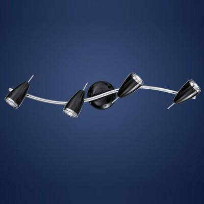 Eglo RICCIO 90363 Светильник поворотный спотТройные<br>Светильники-споты – это оригинальные изделия с современным дизайном. Они позволяют не ограничивать свою фантазию при выборе освещения для интерьера. Такие модели обеспечивают достаточно качественный свет. Благодаря компактным размерам Вы можете использовать несколько спотов для одного помещения.  Интернет-магазин «Светодом» предлагает необычный светильник-спот Eglo 90363 по привлекательной цене. Эта модель станет отличным дополнением к люстре, выполненной в том же стиле. Перед оформлением заказа изучите характеристики изделия.  Купить светильник-спот Eglo 90363 в нашем онлайн-магазине Вы можете либо с помощью формы на сайте, либо по указанным выше телефонам. Обратите внимание, что у нас склады не только в Москве и Екатеринбурге, но и других городах России.<br><br>S освещ. до, м2: 13<br>Тип лампы: галогенная / LED-светодиодная<br>Тип цоколя: GU10<br>Количество ламп: 4<br>MAX мощность ламп, Вт: 50<br>Длина, мм: 650<br>Цвет арматуры: серебристый