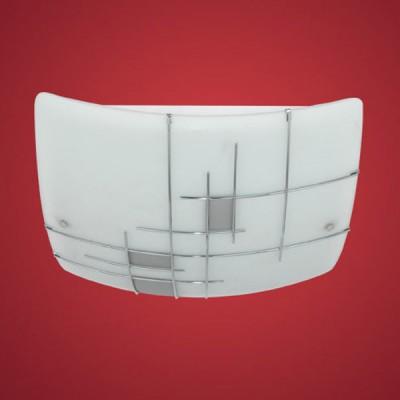 Eglo RAYA 1 90383 Настенно-потолочные светильникиКвадратные<br>Австрийское качество модели светильника Eglo 90383 не оставит равнодушным каждого купившего! Матовое закаленное стекло(пр-во Чехия) c металическим декором(хром), Белый металический корпус, Класс изоляции 2 (двойная изоляция), IP 20, Экологически безопасные технологии.,L=410Н=410,2X60W,E27.<br><br>S освещ. до, м2: 8<br>Тип лампы: накаливания / энергосбережения / LED-светодиодная<br>Тип цоколя: E27<br>Цвет арматуры: белый<br>Количество ламп: 2<br>Размеры основания, мм: 0<br>Длина, мм: 410<br>Расстояние от стены, мм: 100<br>Высота, мм: 410<br>Оттенок (цвет): белый, серебряный<br>MAX мощность ламп, Вт: 2<br>Общая мощность, Вт: 2X60W