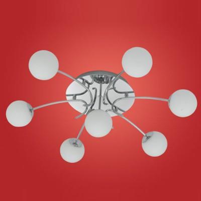 Люстра с белыми плафонами Eglo 90458 GAMBOсовременные потолочные люстры модерн<br>Компания «Светодом» предлагает широкий ассортимент люстр от известных производителей. Представленные в нашем каталоге товары выполнены из современных материалов и обладают отличным качеством. Благодаря широкому ассортименту Вы сможете найти у нас люстру под любой интерьер. Мы предлагаем как классические варианты, так и современные модели, отличающиеся лаконичностью и простотой форм. <br>Стильная люстра Eglo 90458 станет украшением любого дома. Эта модель от известного производителя не оставит равнодушным ценителей красивых и оригинальных предметов интерьера. Люстра Eglo 90458 обеспечит равномерное распределение света по всей комнате. При выборе обратите внимание на характеристики, позволяющие приобрести наиболее подходящую модель. <br>Купить понравившуюся люстру по доступной цене Вы можете в интернет-магазине «Светодом».<br><br>Установка на натяжной потолок: Ограничено<br>S освещ. до, м2: 11<br>Крепление: Планка<br>Тип лампы: галогенная<br>Тип цоколя: G9<br>Цвет арматуры: серебристый<br>Количество ламп: 7<br>Диаметр, мм мм: 680<br>Размеры основания, мм: 0<br>Расстояние от стены, мм: 200<br>Оттенок (цвет): белый<br>MAX мощность ламп, Вт: 18<br>Общая мощность, Вт: 7X18W