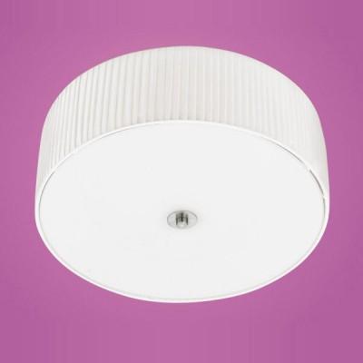 Eglo FORTUNA 90643 Настенно-потолочный светильникПотолочные<br>Австрийское качество модели светильника Eglo 90643 не оставит равнодушным каждого купившего! Матовое закаленное стекло(пр-во Чехия), Никелированный корпус, Текстильный абажур со специальной пропиткой, легко ухаживать, Класс изоляции 2 (двойная изоляция), IP 20, освещенность 2418 lm ,D=475,3X60W,E27.<br><br>Установка на натяжной потолок: Ограничено<br>S освещ. до, м2: 12<br>Крепление: Планка<br>Тип лампы: накаливания / энергосбережения / LED-светодиодная<br>Тип цоколя: E27<br>Количество ламп: 3<br>MAX мощность ламп, Вт: 60<br>Диаметр, мм мм: 475<br>Размеры основания, мм: 0<br>Расстояние от стены, мм: 185<br>Оттенок (цвет): белый<br>Цвет арматуры: серый<br>Общая мощность, Вт: 3X60W