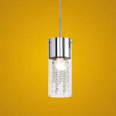 Eglo DIAMOND 90695 Светильник подвеснойОдиночные<br>Австрийское качество модели светильника Eglo 90695 не оставит равнодушным каждого купившего! Закаленное стекло (пр-во Чехия) с кристаллами (хрусталь Пр-во Египет Asfour), стальное хромированное основание, Класс изоляции 2 (плоская вилка, двойная изоляция от вилки до лампы), IP 20, освещенность 806 lm,Н=1100D=105,1X60W,E14.<br><br>S освещ. до, м2: 4<br>Тип лампы: накаливания / энергосбережения / LED-светодиодная<br>Тип цоколя: E14<br>Количество ламп: 1<br>MAX мощность ламп, Вт: 2<br>Диаметр, мм мм: 105<br>Размеры основания, мм: 125<br>Высота, мм: 1100<br>Оттенок (цвет): прозрачный, хром<br>Цвет арматуры: серебристый<br>Общая мощность, Вт: 1X60W