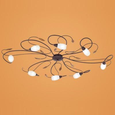 Eglo GERBERA 1 90698 Настенно-потолочный светильникПотолочные<br>Австрийское качество модели светильника Eglo 90698 не оставит равнодушным каждого купившего! Матовое закаленное стекло(пр-во Чехия) с прозрачным ободом, металический декоративный корпус цвета античной бронзы в стиле флористики с элементами декора цвета золота, Класс изоляции 1, IP 20. Экологически безопасные технологии.,L=1070B=770,8X33W,G9.<br><br>Установка на натяжной потолок: Ограничено<br>S освещ. до, м2: 21<br>Крепление: Планка<br>Тип лампы: галогенная / LED-светодиодная<br>Тип цоколя: G9<br>Количество ламп: 8<br>Ширина, мм: 770<br>MAX мощность ламп, Вт: 33<br>Размеры основания, мм: 0<br>Длина, мм: 1070<br>Расстояние от стены, мм: 90<br>Оттенок (цвет): белый<br>Цвет арматуры: коричневый<br>Общая мощность, Вт: 8X33W