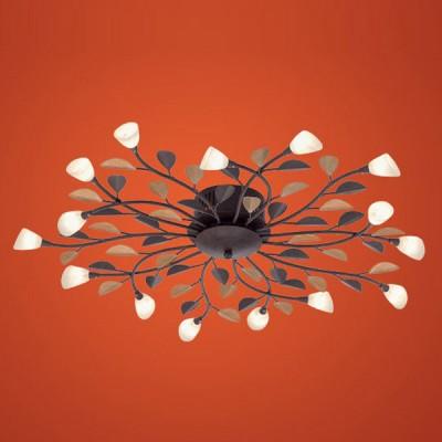 Eglo CAMPANIA 90737 Настенно-потолочный светильникПотолочные<br>Компания «Светодом» предлагает широкий ассортимент люстр от известных производителей. Представленные в нашем каталоге товары выполнены из современных материалов и обладают отличным качеством. Благодаря широкому ассортименту Вы сможете найти у нас люстру под любой интерьер. Мы предлагаем как классические варианты, так и современные модели, отличающиеся лаконичностью и простотой форм.  Стильная люстра Eglo 90737 станет украшением любого дома. Эта модель от известного производителя не оставит равнодушным ценителей красивых и оригинальных предметов интерьера. Люстра Eglo 90737 обеспечит равномерное распределение света по всей комнате. При выборе обратите внимание на характеристики, позволяющие приобрести наиболее подходящую модель. Купить понравившуюся люстру по доступной цене Вы можете в интернет-магазине «Светодом».<br><br>Установка на натяжной потолок: Ограничено<br>S освещ. до, м2: 10<br>Крепление: Планка<br>Тип лампы: галогенная / LED-светодиодная<br>Тип цоколя: G4<br>Количество ламп: 15<br>MAX мощность ламп, Вт: 29<br>Диаметр, мм мм: 775<br>Размеры основания, мм: 0<br>Расстояние от стены, мм: 115<br>Оттенок (цвет): белый<br>Цвет арматуры: коричневый<br>Общая мощность, Вт: 15X10W