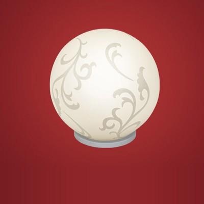 Eglo REBECCA 90744 Настольная лампаВ виде шара<br>Настольная лампа – это не просто источник дополнительного освещения, но и оригинальный элемент декора. Его можно установить в спальне, гостиной, кабинете и других комнатах. Интернет-магазин «Светодом» предлагает настольные лампы разных стилей по доступным ценам. Благодаря большому ассортименту Вы обязательно найдете в нашем каталоге именно ту модель, которую искали.   Настольная лампа Eglo 90744 – прекрасный вариант для завершения интерьера. Ее можно включить одновременно с люстрой для более яркого освещения или без нее для создания уютной атмосферы, настраивающей на отдых.   Купить настольную лампу Eglo 90744 Вы можете с помощью виртуальной «Корзины» или по контактным номерам, указанным на сайте.<br><br>S освещ. до, м2: 4<br>Тип лампы: накал-я - энергосбер-я<br>Тип цоколя: E27<br>Количество ламп: 1<br>MAX мощность ламп, Вт: 2<br>Диаметр, мм мм: 200<br>Размеры основания, мм: 0<br>Высота, мм: 200<br>Оттенок (цвет): белый<br>Цвет арматуры: серебристый<br>Общая мощность, Вт: 1X60W