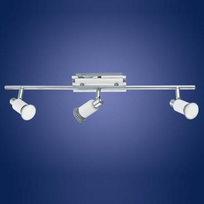Eglo ERIDAN 90834 Светильник поворотный спотТройные<br>Светильники-споты – это оригинальные изделия с современным дизайном. Они позволяют не ограничивать свою фантазию при выборе освещения для интерьера. Такие модели обеспечивают достаточно качественный свет. Благодаря компактным размерам Вы можете использовать несколько спотов для одного помещения.  Интернет-магазин «Светодом» предлагает необычный светильник-спот Eglo 90834 по привлекательной цене. Эта модель станет отличным дополнением к люстре, выполненной в том же стиле. Перед оформлением заказа изучите характеристики изделия.  Купить светильник-спот Eglo 90834 в нашем онлайн-магазине Вы можете либо с помощью формы на сайте, либо по указанным выше телефонам. Обратите внимание, что мы предлагаем доставку не только по Москве и Екатеринбургу, но и всем остальным российским городам.<br><br>S освещ. до, м2: 3<br>Тип лампы: LED - светодиодная<br>Тип цоколя: GU10<br>Количество ламп: 3<br>Ширина, мм: 70<br>MAX мощность ламп, Вт: 2<br>Размеры основания, мм: 0<br>Длина, мм: 580<br>Цвет арматуры: серебристый<br>Общая мощность, Вт: 3X5W