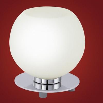 Eglo BUCCINO 90904 Настольная лампаВ виде шара<br>Настольная лампа – это не просто источник дополнительного освещения, но и оригинальный элемент декора. Его можно установить в спальне, гостиной, кабинете и других комнатах. Интернет-магазин «Светодом» предлагает настольные лампы разных стилей по доступным ценам. Благодаря большому ассортименту Вы обязательно найдете в нашем каталоге именно ту модель, которую искали.   Настольная лампа Eglo 90904 – прекрасный вариант для завершения интерьера. Ее можно включить одновременно с люстрой для более яркого освещения или без нее для создания уютной атмосферы, настраивающей на отдых.   Купить настольную лампу Eglo 90904 Вы можете с помощью виртуальной «Корзины» или по контактным номерам, указанным на сайте.<br><br>S освещ. до, м2: 2<br>Тип лампы: накал-я - энергосбер-я<br>Тип цоколя: E14<br>Количество ламп: 1<br>MAX мощность ламп, Вт: 2<br>Диаметр, мм мм: 140<br>Размеры основания, мм: 120<br>Высота, мм: 145<br>Оттенок (цвет): белый<br>Цвет арматуры: серебристый<br>Общая мощность, Вт: 1X40W