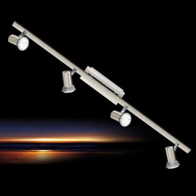 Eglo ROTTELO 90917 Светильник поворотный спотС 4 лампами<br>Светильники-споты – это оригинальные изделия с современным дизайном. Они позволяют не ограничивать свою фантазию при выборе освещения для интерьера. Такие модели обеспечивают достаточно качественный свет. Благодаря компактным размерам Вы можете использовать несколько спотов для одного помещения.  Интернет-магазин «Светодом» предлагает необычный светильник-спот Eglo 90917 по привлекательной цене. Эта модель станет отличным дополнением к люстре, выполненной в том же стиле. Перед оформлением заказа изучите характеристики изделия.  Купить светильник-спот Eglo 90917 в нашем онлайн-магазине Вы можете либо с помощью формы на сайте, либо по указанным выше телефонам. Обратите внимание, что у нас склады не только в Москве и Екатеринбурге, но и других городах России.<br><br>S освещ. до, м2: 3<br>Тип лампы: LED - светодиодная<br>Тип цоколя: GU10<br>Количество ламп: 4<br>Ширина, мм: 70<br>MAX мощность ламп, Вт: 2<br>Размеры основания, мм: 0<br>Длина, мм: 780<br>Цвет арматуры: серый<br>Общая мощность, Вт: 4X5W