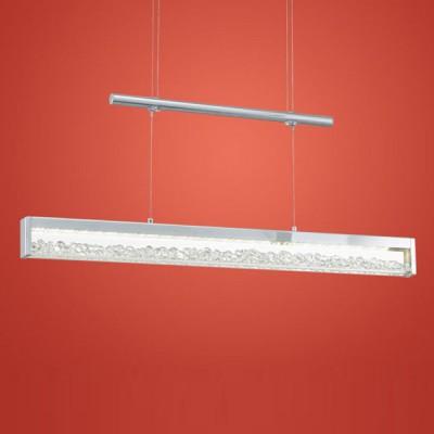 Eglo CARDITO 90928 Светильник подвеснойСветодиодные<br>Австрийское качество модели светильника Eglo 90928 не оставит равнодушным каждого купившего! Кристаллы (хрусталь Пр-во Египет Asfour), Хромированное основание, Сменные светодиоды, Класс изоляции 2 (плоская вилка, двойная изоляция от вилки до лампы), IP 20, Экологически безопасные технологии, освещенность 2086 lm ,L=700Н=1100,4X6W (4X12 LED),LED.<br><br>S освещ. до, м2: 3<br>Цветовая t, К: 3000 (теплый белый)<br>Тип лампы: LED - светодиодная<br>Тип цоколя: LED<br>MAX мощность ламп, Вт: 29<br>Размеры основания, мм: 0<br>Длина, мм: 700<br>Высота, мм: 1100<br>Оттенок (цвет): прозрачный<br>Цвет арматуры: серебристый<br>Общая мощность, Вт: 24W