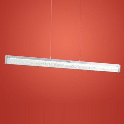 Eglo CARDITO 90929 Светильник подвеснойподвесные светодиодные светильники<br>Австрийское качество модели светильника Eglo 90929 не оставит равнодушным каждого купившего! Кристаллы (хрусталь Пр-во Египет Asfour), Хромированное основание, Сменные светодиоды, Класс изоляции 2 (плоская вилка, двойная изоляция от вилки до лампы), IP 20, Экологически безопасные технологии, освещенность 3129 lm ,L=1000B=80Н=1100,6X6W (6X12 LED),LED.<br><br>S освещ. до, м2: 3<br>Цветовая t, К: 3000 (теплый белый)<br>Тип лампы: LED - светодиодная<br>Тип цоколя: LED<br>Цвет арматуры: серебристый<br>Ширина, мм: 80<br>Размеры основания, мм: 0<br>Длина, мм: 1000<br>Высота, мм: 1100<br>Оттенок (цвет): прозрачный<br>MAX мощность ламп, Вт: 29<br>Общая мощность, Вт: 6X6W (6X12 LED)