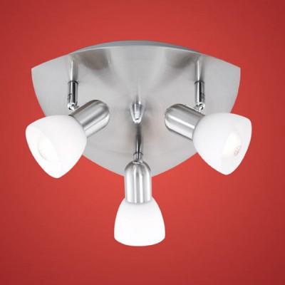 Eglo ENEA 90986 Светильник поворотный спотПоворотные<br>Компания «Светодом» предлагает широкий ассортимент люстр от известных производителей. Представленные в нашем каталоге товары выполнены из современных материалов и обладают отличным качеством. Благодаря широкому ассортименту Вы сможете найти у нас люстру под любой интерьер. Мы предлагаем как классические варианты, так и современные модели, отличающиеся лаконичностью и простотой форм.  Стильная люстра Eglo 90986 станет украшением любого дома. Эта модель от известного производителя не оставит равнодушным ценителей красивых и оригинальных предметов интерьера. Люстра Eglo 90986 обеспечит равномерное распределение света по всей комнате. При выборе обратите внимание на характеристики, позволяющие приобрести наиболее подходящую модель. Купить понравившуюся люстру по доступной цене Вы можете в интернет-магазине «Светодом».<br><br>Установка на натяжной потолок: Ограничено<br>S освещ. до, м2: 8<br>Крепление: Планка<br>Тип лампы: накаливания / энергосбережения / LED-светодиодная<br>Тип цоколя: E14<br>Количество ламп: 3<br>MAX мощность ламп, Вт: 40<br>Диаметр, мм мм: 265<br>Размеры основания, мм: 0<br>Оттенок (цвет): белый<br>Цвет арматуры: серый<br>Общая мощность, Вт: 3X40W