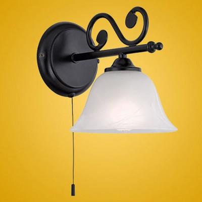 Eglo MURCIA 91006 Настенно-потолочный светильникРустика<br><br><br>S освещ. до, м2: 2<br>Тип товара: Настенно-потолочный светильник<br>Скидка, %: 8<br>Тип лампы: накаливания / энергосбережения / LED-светодиодная<br>Тип цоколя: E14<br>Количество ламп: 1<br>MAX мощность ламп, Вт: 2<br>Размеры основания, мм: 0<br>Длина, мм: 165<br>Расстояние от стены, мм: 230<br>Высота, мм: 190<br>Оттенок (цвет): белый<br>Цвет арматуры: черный<br>Общая мощность, Вт: 1X40W