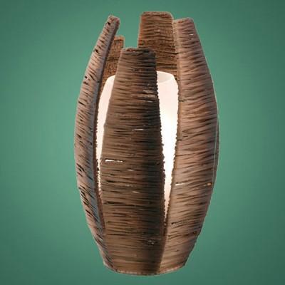 Eglo MONGU 91014 Настольная лампанастольные лампы из дерева<br>Австрийское качество модели светильника Eglo 91014 не оставит равнодушным каждого купившего! Закаленное стекло ручной работы с тиснением (пр-во Чехия), дополнительный внешний плафон из натурального материала(лубяное волокно). Основание сталь. Класс изоляции 2 (двойная изоляция до лампы), IP 20, освещенность 806 lm.,Н=1100D=190,1X60W,E27Н=300,D=190.<br><br>S освещ. до, м2: 4<br>Тип лампы: накаливания / энергосбережения / LED-светодиодная<br>Тип цоколя: E27<br>Цвет арматуры: коричневый<br>Количество ламп: 1<br>Диаметр, мм мм: 190<br>Размеры основания, мм: 0<br>Высота, мм: 300<br>Оттенок (цвет): коричневый, белый<br>MAX мощность ламп, Вт: 2<br>Общая мощность, Вт: 1X60W