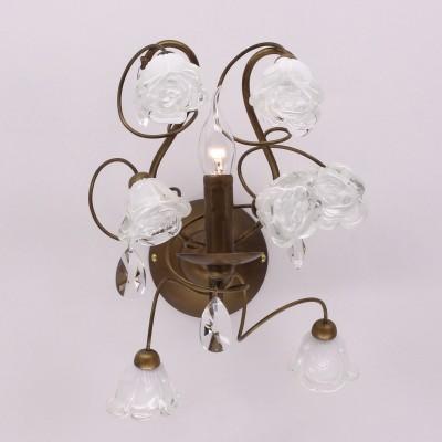 Светильник настенный бра Eletto EL324W01.1 RosettaФлористика<br><br><br>Тип лампы: накаливания / энергосбережения / LED-светодиодная<br>Тип цоколя: E14<br>Количество ламп: 1<br>Ширина, мм: 270<br>MAX мощность ламп, Вт: 60<br>Длина, мм: 250<br>Высота, мм: 360<br>Цвет арматуры: коричневый