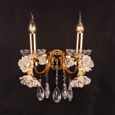 Светильник бра Eletto EL345W02.1Флористика<br><br><br>Тип лампы: накаливания / энергосбережения / LED-светодиодная<br>Тип цоколя: E14<br>Количество ламп: 2