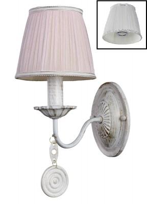 Светильник настенный бра Crystal lux EMILIA AP1 1640/401Классические<br><br><br>Тип цоколя: E14<br>Цвет арматуры: Белый, золотая патина<br>Количество ламп: 1<br>Ширина, мм: 150<br>Длина, мм: 220<br>Высота, мм: 280<br>MAX мощность ламп, Вт: 60