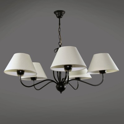 Namat ERAMIS 1286/1 потолочный светильникПодвесные<br><br><br>S освещ. до, м2: 15<br>Крепление: Потолочное<br>Тип лампы: накаливания / энергосбережения / LED-светодиодная<br>Тип цоколя: E14<br>Цвет арматуры: Черный<br>Количество ламп: 5<br>Диаметр, мм мм: 900<br>Высота, мм: 700<br>MAX мощность ламп, Вт: 60
