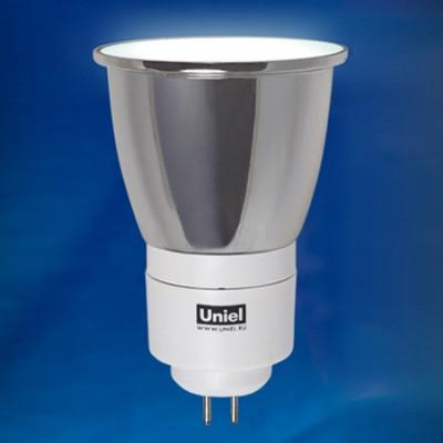 Лампа UNIEL ESL-JCDR CL-7/4000/GU5.3 картонКомпактные ЛЛ<br><br><br>Тип товара: Лампа<br>Цветовая t, К: CW - холодный белый 4000 К<br>Тип лампы: люминесцентная<br>Тип цоколя: GU5.3<br>MAX мощность ламп, Вт: 7<br>Диаметр, мм мм: 50<br>Высота, мм: 71