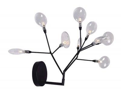Бра EVITA AP9 BLACK/TRANSPARENT (1690/409) Crystal luxОжидается<br><br><br>Тип цоколя: G4<br>Цвет арматуры: Черный<br>Количество ламп: 9<br>Высота полная, мм: 380<br>Длина цепи/провода, мм: 380<br>Длина, мм: 420<br>Расстояние от стены, мм: 350<br>Высота, мм: 380<br>Поверхность арматуры: Краска<br>Оттенок (цвет): Прозрачный<br>MAX мощность ламп, Вт: 1