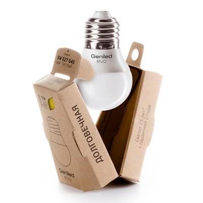 Лампа Geniled LED EVO Е27 G45 5W 2700K 01187В виде шарика<br>В интернет-магазине «Светодом» можно купить не только люстры и светильники, но и лампочки. В нашем каталоге представлены светодиодные, галогенные, энергосберегающие модели и лампы накаливания. В ассортименте имеются изделия разной мощности, поэтому у нас Вы сможете приобрести все необходимое для освещения.   Лампа Geniled LED EVO Е27 G45 5W 2700K 01187 обеспечит отличное качество освещения. При покупке ознакомьтесь с параметрами в разделе «Характеристики», чтобы не ошибиться в выборе. Там же указано, для каких осветительных приборов Вы можете использовать лампу Geniled LED EVO Е27 G45 5W 2700K 01187Geniled LED EVO Е27 G45 5W 2700K 01187.   Для оформления покупки воспользуйтесь «Корзиной». При наличии вопросов Вы можете позвонить нашим менеджерам по одному из контактных номеров. Мы доставляем заказы в Москву, Екатеринбург и другие города России.<br><br>Цветовая t, К: WW - теплый белый 2700-3000 К<br>Тип лампы: LED - светодиодная<br>Тип цоколя: E27<br>MAX мощность ламп, Вт: 5<br>Диаметр, мм мм: 45<br>Высота, мм: 73