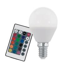 Eglo 10682 Лампа светодиодная диммируемая RGB P45, с пультом упр-я, 4W (E14), 3000K, 300lmС пультом<br><br><br>Цветовая t, К: 3000<br>Тип лампы: LED<br>Тип цоколя: E14<br>Диаметр, мм мм: 45<br>Высота, мм: 80<br>MAX мощность ламп, Вт: 4