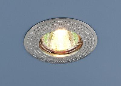601 СН (хром) Электростандарт Точечный светильникТочечные светильники круглые<br>Лампа: MR16 G5.3 max 50 Вт Диаметр: ? 86 мм Высота внутренней части: ? 23 мм Высота внешней части: ? 4 мм Монтажное отверстие: ? 60 мм Гарантия: 2 года<br><br>Тип лампы: галогенная<br>Тип цоколя: gu5.3<br>Диаметр, мм мм: 86<br>Диаметр врезного отверстия, мм: 60<br>MAX мощность ламп, Вт: 50