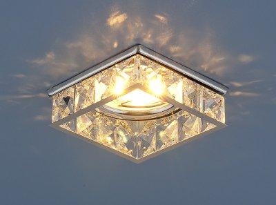 7274 MR16 CH/CL хром/прозрачный Электростандарт Встраиваемый потолочный светильник