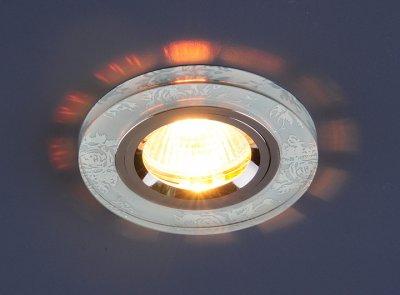 8561/6 SL FL/CH (белый / хром) Электростандарт Точечный светильникКруглые<br>Лампа: MR16 G5.3 max 50 Вт Диаметр: ? 91 мм Высота внутренней части: ? 18 мм Высота внешней части: ? 9 мм Монтажное отверстие: ? 60 мм Гарантия: 2 года<br><br>Тип лампы: галогенная<br>Тип цоколя: gu5.3<br>Диаметр, мм мм: 90<br>Диаметр врезного отверстия, мм: 65<br>MAX мощность ламп, Вт: 50