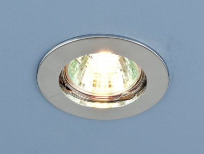 Светильник Электростандарт 863A MR16 серебро матметаллические встраиваемые светильники<br>