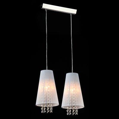 Светильник Maytoni F001-22-N AssolДвойные<br><br><br>Крепление: планка<br>Тип лампы: накаливания / энергосбережения / LED-светодиодная<br>Тип цоколя: E14<br>Цвет арматуры: серый<br>Количество ламп: 2<br>Ширина, мм: 170<br>Длина цепи/провода, мм: 700<br>Длина, мм: 400<br>Высота, мм: 450 - 1500<br>MAX мощность ламп, Вт: 40