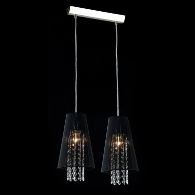 Светильник Maytoni F002-22-N F002Двойные<br><br><br>Крепление: планка<br>Тип лампы: накаливания / энергосбережения / LED-светодиодная<br>Тип цоколя: E14<br>Цвет арматуры: серый<br>Количество ламп: 2<br>Ширина, мм: 170<br>Длина цепи/провода, мм: 700<br>Высота, мм: 450 - 1500<br>MAX мощность ламп, Вт: 40