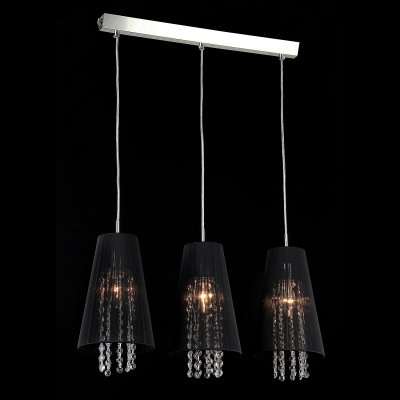 Светильник Maytoni F002-33-N F002Тройные<br><br><br>Крепление: планка<br>Тип лампы: накаливания / энергосбережения / LED-светодиодная<br>Тип цоколя: E14<br>Количество ламп: 3<br>Ширина, мм: 170<br>MAX мощность ламп, Вт: 40<br>Длина цепи/провода, мм: 700<br>Длина, мм: 600<br>Высота, мм: 450 - 1500<br>Цвет арматуры: серый