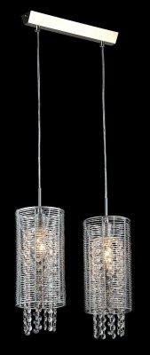 Светильник Maytoni F008-22-N F008Двойные<br><br><br>Крепление: планка<br>Тип лампы: накаливания / энергосбережения / LED-светодиодная<br>Тип цоколя: E14<br>Количество ламп: 2<br>Ширина, мм: 130<br>MAX мощность ламп, Вт: 40<br>Длина цепи/провода, мм: 700<br>Длина, мм: 380<br>Высота, мм: 300 - 1000<br>Цвет арматуры: серый