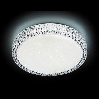 Светильник Ambrella F86 WH 72W D500круглые светильники<br><br><br>Цветовая t, К: от теплого до холодного<br>Тип лампы: LED - светодиодная<br>Тип цоколя: LED, встроенные светодиоды<br>Цвет арматуры: Белый<br>Диаметр, мм мм: 500<br>Поверхность арматуры: матовая<br>Оттенок (цвет): белый<br>MAX мощность ламп, Вт: 72
