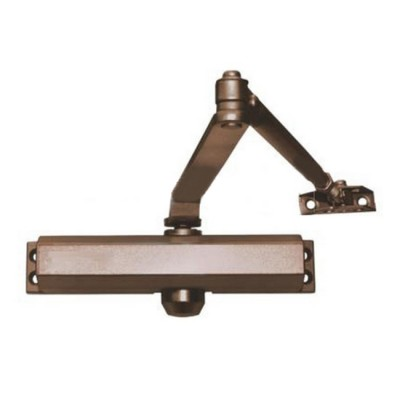 Доводчик на дверь весом 65-85кг FE-B4W (бронза) Falcon eyeДоводчики дверные<br>Доводчик Falcon Eye FE-B4W в литом алюминиевом корпусе <br>- механическое устройство, необходим для автоматического закрывания <br>открытых дверей. Доводчик FALCON EYE FE-B4W предназначен для установки <br>на двери весом 65-85 кг. Стабильно работает при больших перепадах <br>температуры и влажности, без дополнительной регулировки,такие <br>показатели достигаются благодаря использованию незамерзающего масла и <br>герметичного корпуса. Хорошим подтверждением качества доводчика является<br> его рабочая температура от -42 до+55°С. Одной из функций данной модели <br>стоит выделить регулируемую по двум параметрам (доведение и «дохлоп») <br>скорость закрытия, что значительно облегчает использование устройства и<br> тишину его работы.<br>Характеристики:<br><br>Доводчик на дверь весом 65-85 кг<br>Литой алюминевый корпус<br>Регулируемая скорость закрытия<br>Используется незамерзающее масло<br>Рабочая температура от -42?С до +55?С<br>