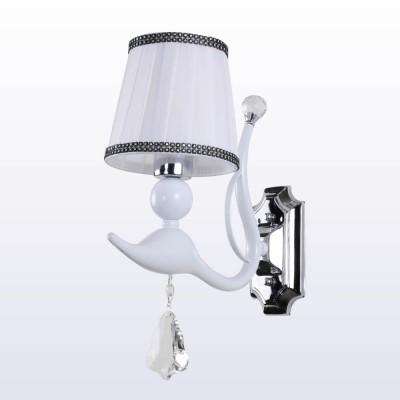 Светильник настенный бра Crystal lux FLAMINGO AP1 WHITE 1761/401современные бра модерн<br><br><br>Тип цоколя: E14<br>Цвет арматуры: Белый<br>Количество ламп: 1<br>Ширина, мм: 310<br>Длина, мм: 180<br>Высота, мм: 360<br>MAX мощность ламп, Вт: 60