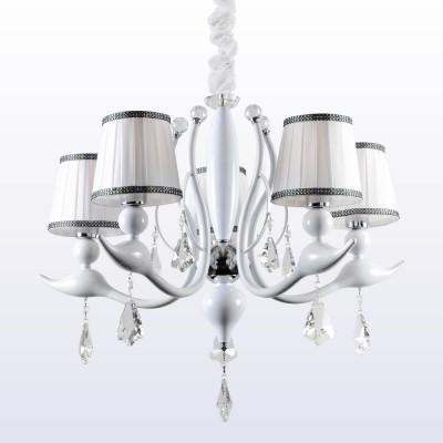 Люстра Crystal lux FLAMINGO SP-PL5 WHITE 1761/305Подвесные<br>Компания «Светодом» предлагает широкий ассортимент люстр от известных производителей. Представленные в нашем каталоге товары выполнены из современных материалов и обладают отличным качеством. Благодаря широкому ассортименту Вы сможете найти у нас люстру под любой интерьер. Мы предлагаем как классические варианты, так и современные модели, отличающиеся лаконичностью и простотой форм.  Стильная люстра Crystal lux FLAMINGO SP-PL5 WHITE станет украшением любого дома. Эта модель от известного производителя не оставит равнодушным ценителей красивых и оригинальных предметов интерьера. Люстра Crystal lux FLAMINGO SP-PL5 WHITE обеспечит равномерное распределение света по всей комнате. При выборе обратите внимание на характеристики, позволяющие приобрести наиболее подходящую модель. Купить понравившуюся люстру по доступной цене Вы можете в интернет-магазине «Светодом».<br><br>Установка на натяжной потолок: Да<br>S освещ. до, м2: 15<br>Тип цоколя: E14<br>Цвет арматуры: Белый<br>Количество ламп: 5<br>Диаметр, мм мм: 720<br>Длина цепи/провода, мм: 500<br>Высота, мм: 590<br>MAX мощность ламп, Вт: 60