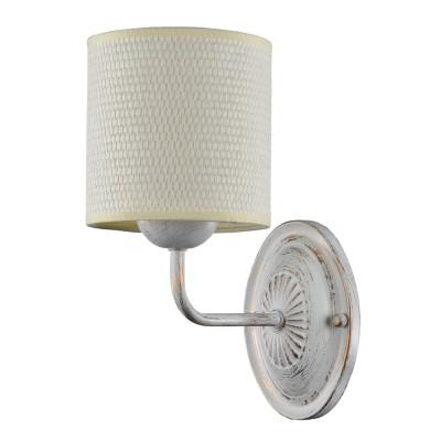 Светильник настенный бра Freya FR100-01-W TimoneМодерн<br><br><br>Тип товара: Светильник настенный бра<br>Тип цоколя: E14<br>Количество ламп: 1<br>MAX мощность ламп, Вт: 40<br>Глубина, мм: 205<br>Высота, мм: 260<br>Цвет арматуры: белый с золотистой патиной