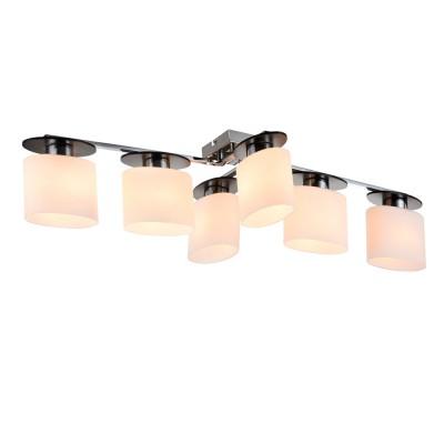 Потолочный светильник Freya FR101-06-N Biceсовременные потолочные люстры модерн<br>Компания «Светодом» предлагает широкий ассортимент люстр от известных производителей. Представленные в нашем каталоге товары выполнены из современных материалов и обладают отличным качеством. Благодаря широкому ассортименту Вы сможете найти у нас люстру под любой интерьер. Мы предлагаем как классические варианты, так и современные модели, отличающиеся лаконичностью и простотой форм.  Стильная люстра Freya FR101-06-N станет украшением любого дома. Эта модель от известного производителя не оставит равнодушным ценителей красивых и оригинальных предметов интерьера. Люстра Freya FR101-06-N обеспечит равномерное распределение света по всей комнате. При выборе обратите внимание на характеристики, позволяющие приобрести наиболее подходящую модель. Купить понравившуюся люстру по доступной цене Вы можете в интернет-магазине «Светодом».<br><br>Установка на натяжной потолок: Да<br>S освещ. до, м2: 12<br>Крепление: планка<br>Тип цоколя: E14<br>Цвет арматуры: серебристый хром<br>Количество ламп: 6<br>Ширина, мм: 390<br>Размеры основания, мм: 100<br>Длина, мм: 880<br>Высота, мм: 200<br>MAX мощность ламп, Вт: 40