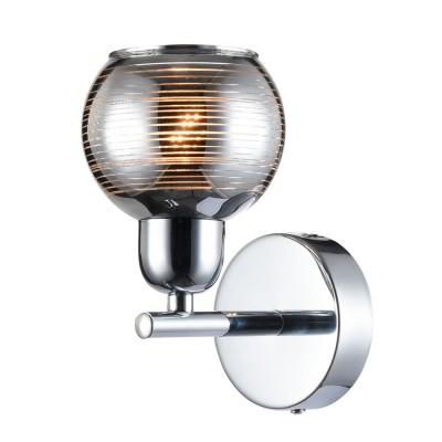 Светильник настенный бра Freya FR5102-WL-01-CH CosmoСовременные<br><br><br>Тип цоколя: E14<br>Цвет арматуры: серебристый хром<br>Количество ламп: 1<br>Глубина, мм: 130<br>Высота, мм: 180<br>MAX мощность ламп, Вт: 40