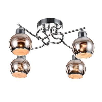 Потолочный светильник Freya FR102-04-N Cosmoсовременные потолочные люстры модерн<br>Компания «Светодом» предлагает широкий ассортимент люстр от известных производителей. Представленные в нашем каталоге товары выполнены из современных материалов и обладают отличным качеством. Благодаря широкому ассортименту Вы сможете найти у нас люстру под любой интерьер. Мы предлагаем как классические варианты, так и современные модели, отличающиеся лаконичностью и простотой форм.  Стильная люстра Freya FR102-04-N станет украшением любого дома. Эта модель от известного производителя не оставит равнодушным ценителей красивых и оригинальных предметов интерьера. Люстра Freya FR102-04-N обеспечит равномерное распределение света по всей комнате. При выборе обратите внимание на характеристики, позволяющие приобрести наиболее подходящую модель. Купить понравившуюся люстру по доступной цене Вы можете в интернет-магазине «Светодом».<br><br>Установка на натяжной потолок: Да<br>S освещ. до, м2: 8<br>Крепление: планка<br>Тип цоколя: E14<br>Цвет арматуры: серебристый хром<br>Количество ламп: 4<br>Диаметр, мм мм: 460<br>Размеры основания, мм: 120<br>Высота, мм: 200<br>MAX мощность ламп, Вт: 40