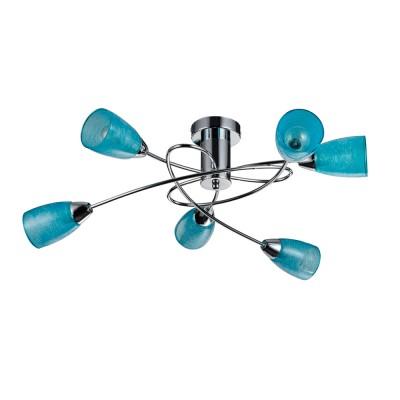 Потолочный светильник Freya FR103-06-BL FlashПотолочные<br>Компания «Светодом» предлагает широкий ассортимент люстр от известных производителей. Представленные в нашем каталоге товары выполнены из современных материалов и обладают отличным качеством. Благодаря широкому ассортименту Вы сможете найти у нас люстру под любой интерьер. Мы предлагаем как классические варианты, так и современные модели, отличающиеся лаконичностью и простотой форм. <br>Стильная люстра Freya FR103-06-BL станет украшением любого дома. Эта модель от известного производителя не оставит равнодушным ценителей красивых и оригинальных предметов интерьера. Люстра Freya FR103-06-BL обеспечит равномерное распределение света по всей комнате. При выборе обратите внимание на характеристики, позволяющие приобрести наиболее подходящую модель. <br>Купить понравившуюся люстру по доступной цене Вы можете в интернет-магазине «Светодом».<br><br>S освещ. до, м2: 13<br>Крепление: планка<br>Тип цоколя: E14<br>Количество ламп: 6<br>MAX мощность ламп, Вт: 40<br>Размеры основания, мм: 100<br>Высота, мм: 240<br>Цвет арматуры: серебристый хром
