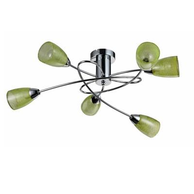 Потолочный светильник Freya FR103-06-GN FlashПотолочные<br>Компания «Светодом» предлагает широкий ассортимент люстр от известных производителей. Представленные в нашем каталоге товары выполнены из современных материалов и обладают отличным качеством. Благодаря широкому ассортименту Вы сможете найти у нас люстру под любой интерьер. Мы предлагаем как классические варианты, так и современные модели, отличающиеся лаконичностью и простотой форм.  Стильная люстра Freya FR103-06-GN станет украшением любого дома. Эта модель от известного производителя не оставит равнодушным ценителей красивых и оригинальных предметов интерьера. Люстра Freya FR103-06-GN обеспечит равномерное распределение света по всей комнате. При выборе обратите внимание на характеристики, позволяющие приобрести наиболее подходящую модель. Купить понравившуюся люстру по доступной цене Вы можете в интернет-магазине «Светодом».<br><br>S освещ. до, м2: 10<br>Крепление: планка<br>Тип цоколя: E14<br>Количество ламп: 5<br>MAX мощность ламп, Вт: 40<br>Размеры основания, мм: 100<br>Высота, мм: 240<br>Цвет арматуры: серебристый хром