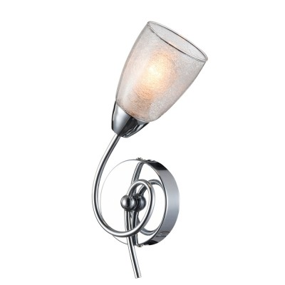 Светильник настенный бра Freya FR5104-WL-01-W FlashСовременные<br><br><br>Тип цоколя: E14<br>Цвет арматуры: серебристый хром<br>Количество ламп: 1<br>Глубина, мм: 100<br>Высота, мм: 300<br>MAX мощность ламп, Вт: 40
