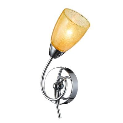 Светильник настенный бра Freya FR104-01-YE FlashМодерн<br><br><br>Тип цоколя: E14<br>Количество ламп: 1<br>MAX мощность ламп, Вт: 40<br>Глубина, мм: 100<br>Высота, мм: 300<br>Цвет арматуры: серебристый хром