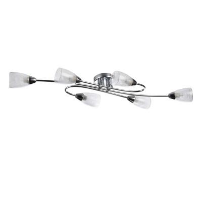 Потолочный светильник Freya FR5104-CL-06-W FlashПотолочные<br>Компания «Светодом» предлагает широкий ассортимент люстр от известных производителей. Представленные в нашем каталоге товары выполнены из современных материалов и обладают отличным качеством. Благодаря широкому ассортименту Вы сможете найти у нас люстру под любой интерьер. Мы предлагаем как классические варианты, так и современные модели, отличающиеся лаконичностью и простотой форм. <br>Стильная люстра Freya FR5104-CL-06-W станет украшением любого дома. Эта модель от известного производителя не оставит равнодушным ценителей красивых и оригинальных предметов интерьера. Люстра Freya FR5104-CL-06-W обеспечит равномерное распределение света по всей комнате. При выборе обратите внимание на характеристики, позволяющие приобрести наиболее подходящую модель. <br>Купить понравившуюся люстру по доступной цене Вы можете в интернет-магазине «Светодом».<br><br>Установка на натяжной потолок: Ограничено<br>S освещ. до, м2: 12<br>Крепление: планка<br>Тип цоколя: E14<br>Цвет арматуры: серебристый хром<br>Количество ламп: 6<br>Ширина, мм: 335<br>Размеры основания, мм: 120<br>Длина, мм: 980<br>Высота, мм: 130<br>MAX мощность ламп, Вт: 40