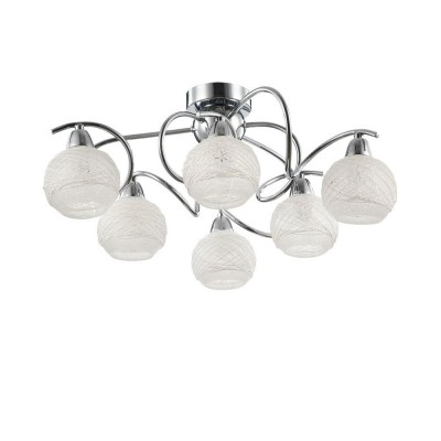 Люстра Freya FR163-06-N Orinсовременные потолочные люстры модерн<br><br><br>Установка на натяжной потолок: Ограничено<br>S освещ. до, м2: 12<br>Тип лампы: Накаливания / энергосбережения / светодиодная<br>Тип цоколя: E14<br>Цвет арматуры: серебристый хром<br>Количество ламп: 6<br>Диаметр, мм мм: 510<br>Высота, мм: 170<br>Оттенок (цвет): серебристый никель<br>MAX мощность ламп, Вт: 40